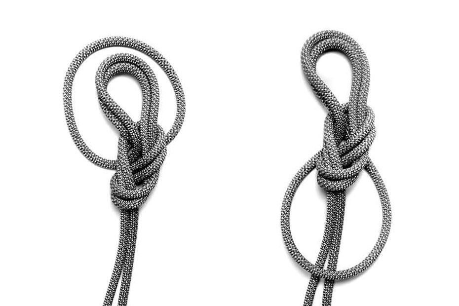nodo delle guide doppio con frizione