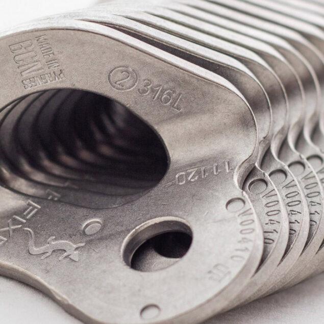 Fixe-1 placchetta inox 316L